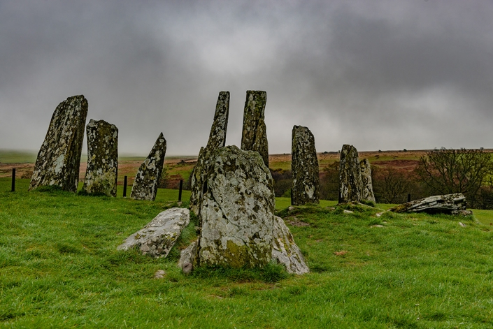 Cairn Holy, standing stones, Scotland