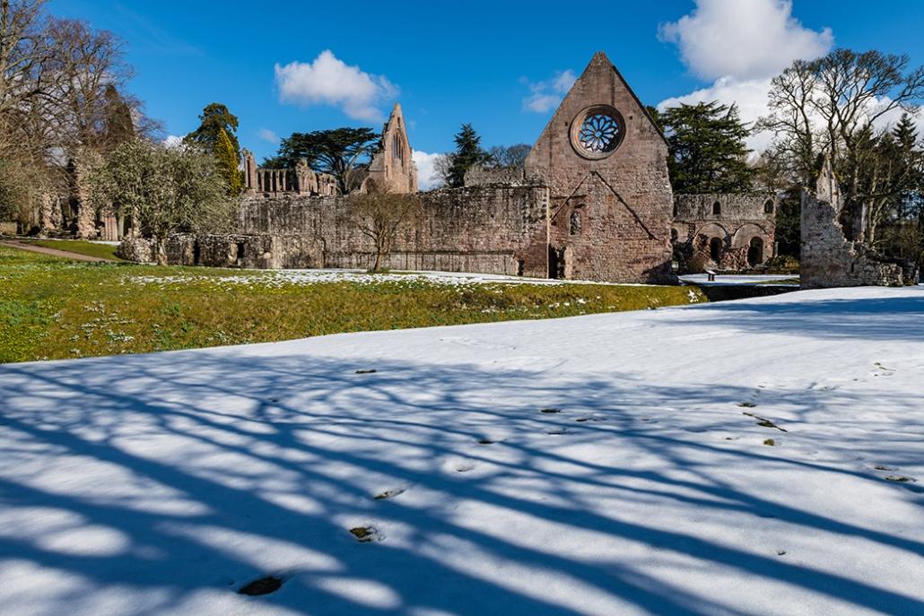 Dryburgh Abbey, Winter, Snow