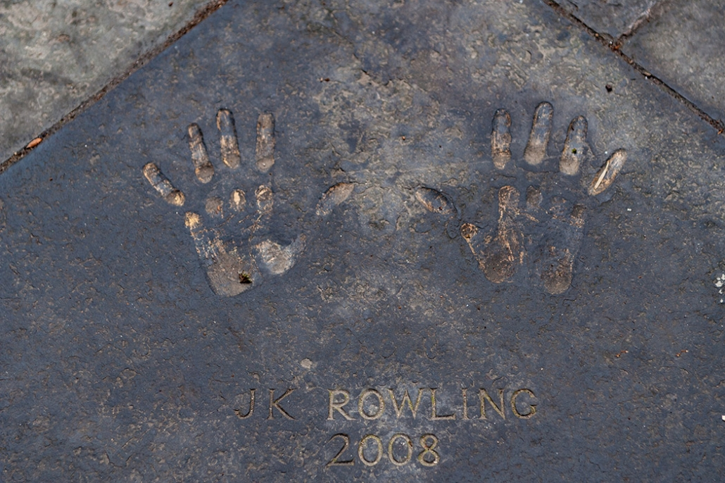 JK Rowling Handprints, JK Rowling, Edinburgh City Chambers