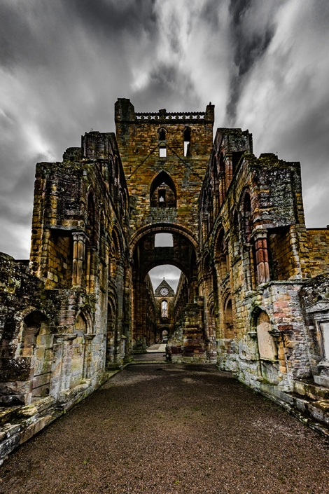Jedburgh abbey, Scottish architecture