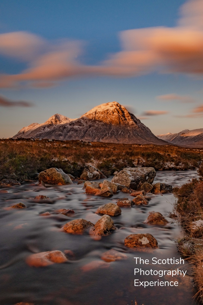 Buachaille Etive Mòr, Glencoe, Scottish Highlands, Sunrise, Dawn, Photography Tour Scotland, Mountains, Snow, Winter
